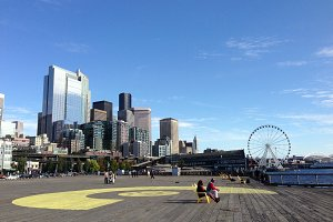 View on Seattle from Pier 62