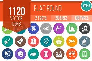 1120 Flat Round Icons (V6)