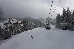 Whistler Blackcomb Mountain Skiing
