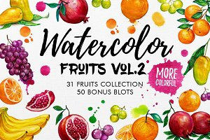 Watercolor Fruits Vol. 2
