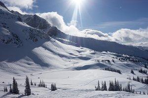 Powder skiing in Whistler, BC
