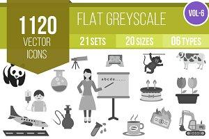 1120 Greyscale Icons (V6)