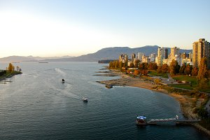 English Bay view from Burrard St.