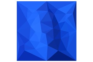 Bright Navy Blue Abstract