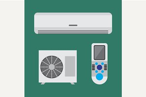 Air conditioner equipment set