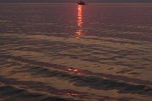 Baltic sea. Sunset