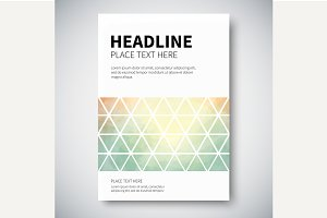 Cover with abstract background