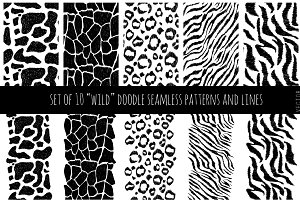 "Set of ""wild"" patterns and borders"