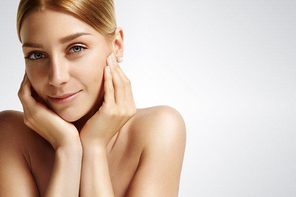 woman in a facial treatment