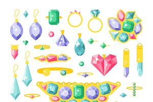 Vector jewelry items