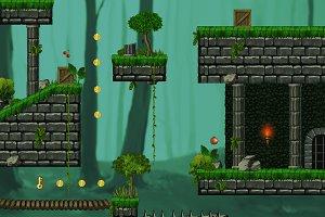 Platformer tileset HD 2: Forest