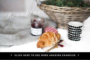 4 French Breakfast stock photos