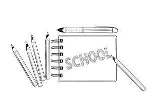 School concept. Lettering