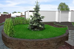 Front yard green design features