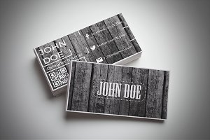 Clean Wood Business Card