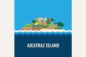 Alcatraz island view