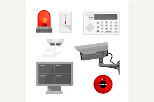 Set of security system devices