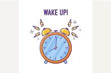 Alarm clock is ringing