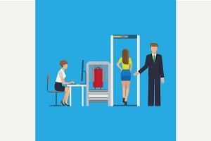 Airport security equipment