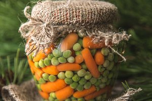 Green Peas and Baby Carrots