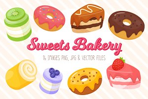 Sweets Bakery Vector set