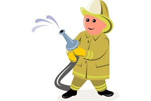 Fireman Fire Fighter Cartoon