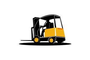 Forklift Truck Retro