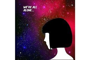 Loneliness vector illustration