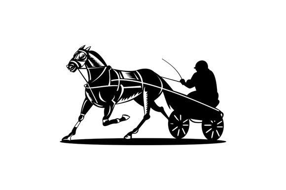 Horse and Jockey Harness Racing ~ Illustrations ~ Creative
