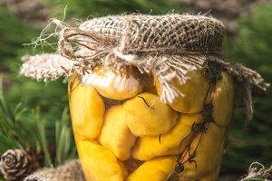 Marinated small yellow summer squash