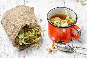 Tea with dry Linden