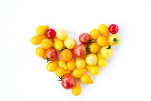Heart of cherry tomatoes