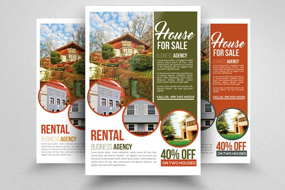 real estate property flyer flyer templates creative market