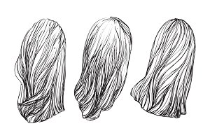 Hand drawn hair
