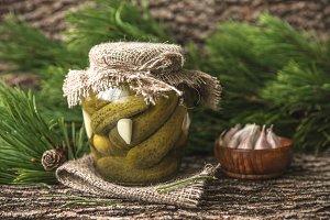 Delicious crunchy pickles