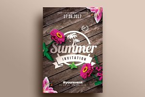Summer Invitations | Flyer Templates