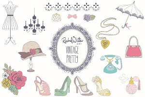 Vintage Pretty Things, Vector & PNG