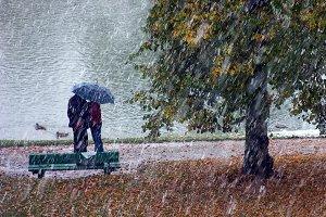Autumn. First snow