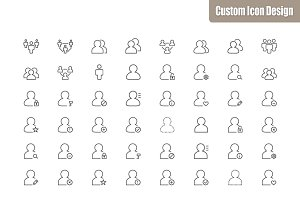105 User Vector Icons