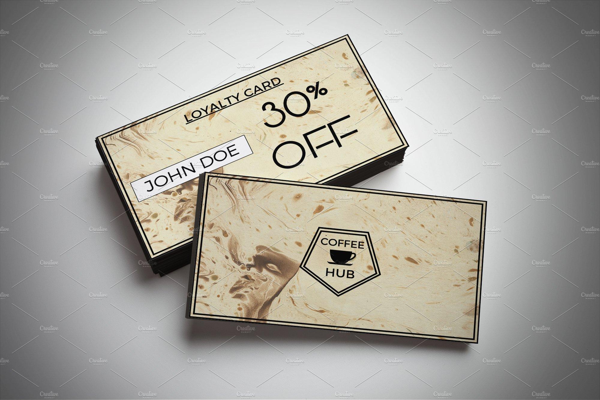 coffee shop discount card card templates creative market