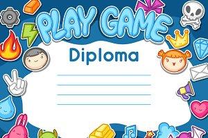Game kawaii diplomas.