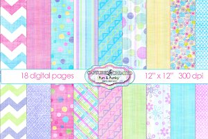 Fresh & Fun -  Digital Paper Pack 18