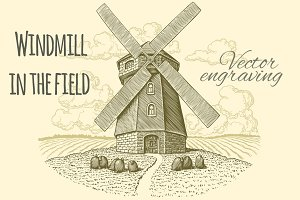 Windmill in the field