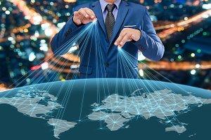 businessman control the world
