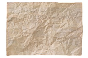 old brown crumpled paper