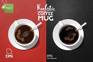 Realistic Coffee Mug/Cup