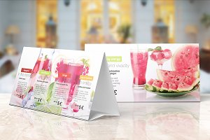 Table Tent Mock-up Vol.5