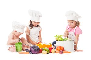 Little chefs cook