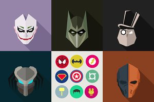 SuperHeroes Masks Flat (Set 19)