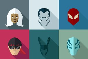 SuperHeroes Masks Flat (Set 20)